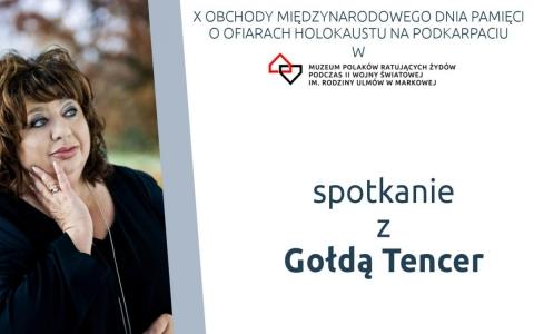 Spotkanie z Gołdą Tencer w Markowej