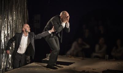 Aktorzy żydowscy / reż. Anna Smolar / fot. M.Hueckel / na zdjęciu Jerzy Walczak i Ryszard Kluge
