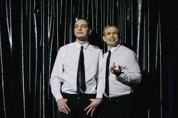 Wielka wygrana / reż. Tomasz Szczepanek / fot. A.Wencel / na zdjęciu Piotr Chomik i Marcin Błaszak