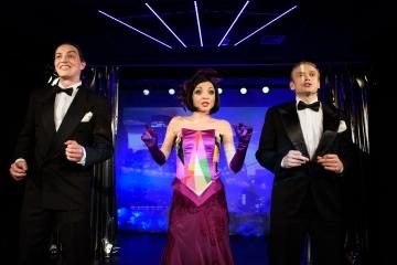 George & Ira Gershwin / reż. Jan Szurmiej / fot. A.Wencel / na zdjęciu Piotr Chomik, Izabella Rzeszowska i Marcin Błaszak