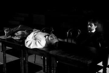 Kafka tańczy / reż. Lech Mackiewicz / fot. Adam Hanuszkiewicz / na zdjęciu Małgorzata Trybalska i Piotr Sierecki