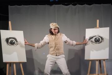 Śmierć pięknych saren / reż. Jan Szurmiej / fot. A.Wencel / na zdjęciu Piotr Chomik