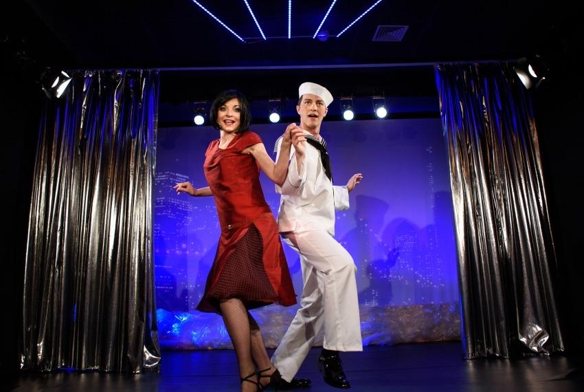 George & Ira Gershwin / reż. Jan Szurmiej / fot. A.Wencel / na zdjęciu Izabella Rzeszowska i Piotr Chomik