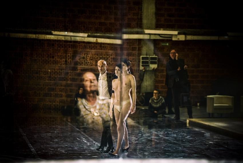 Golem / reż. Maja Kleczewska / na zdjęciu Wanda Siemaszko, Jerzy Walczak i Małgorzata Gorol
