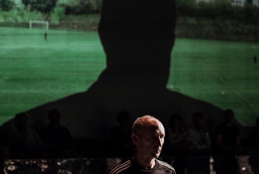 Kibice / reż. Michał Buszewicz / fot. B.Warzecha / na zdjęciu Ryszard Kluge