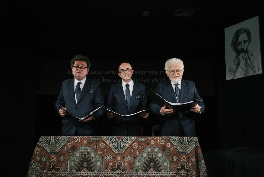 Miasteczko Kasrylewka / reż. Shmuel Atzmon-Wircer / na zdjęciu Henryk Rajfer, Jerzy Walczak i Shmuel Atzmon-Wircer