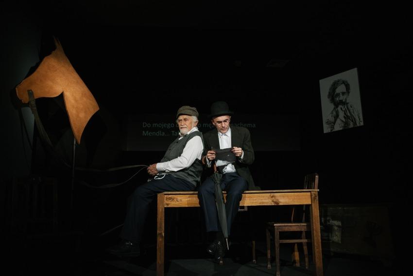 Miasteczko Kasrylewka / reż. Shmuel Atzmon-Wircer / na zdjęciu Shmuel Atzmon-Wircer i Jerzy Walczak