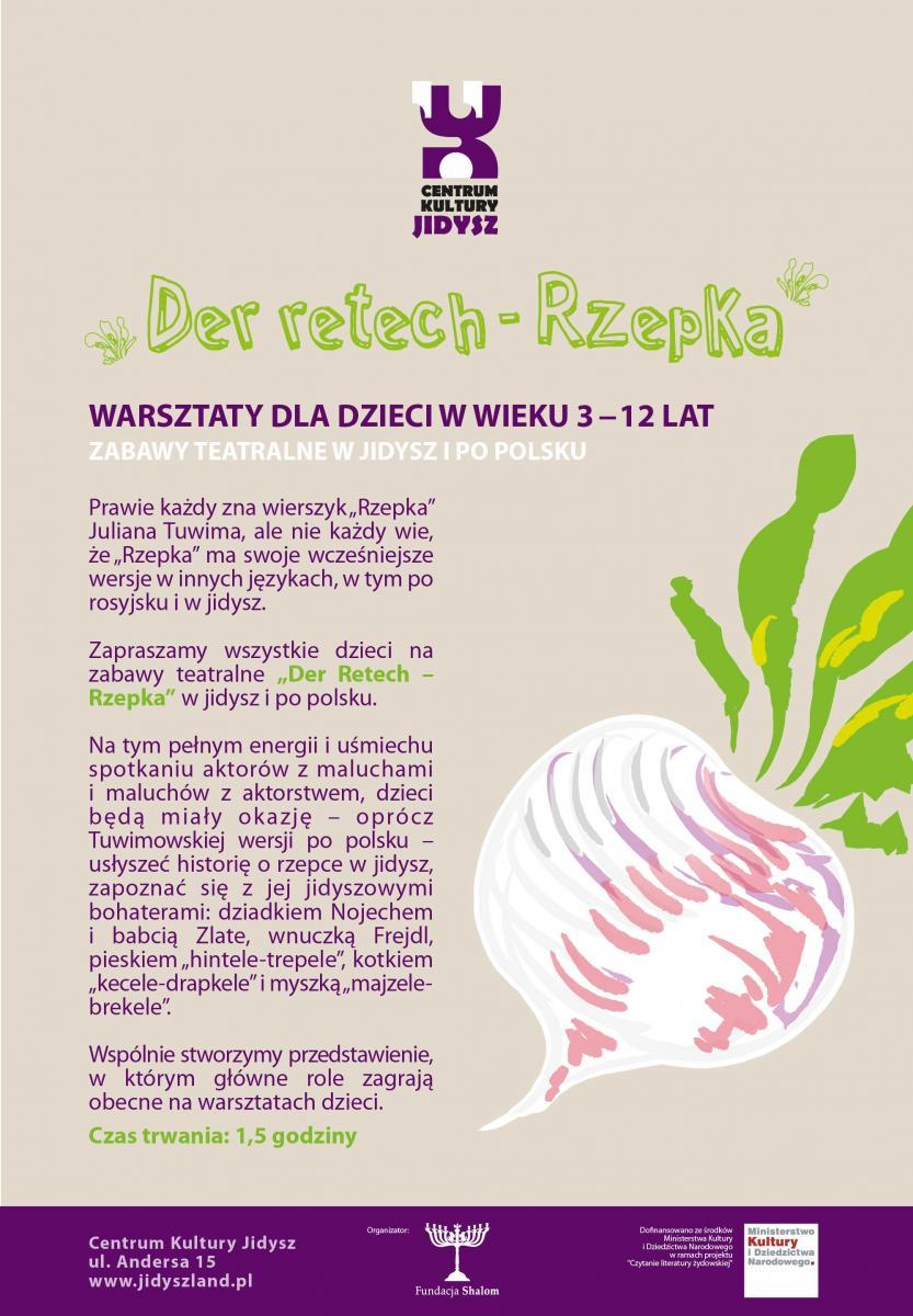 Zabawy Teatralne Dla Dzieci W Jidysz I Po Polsku Der Retech