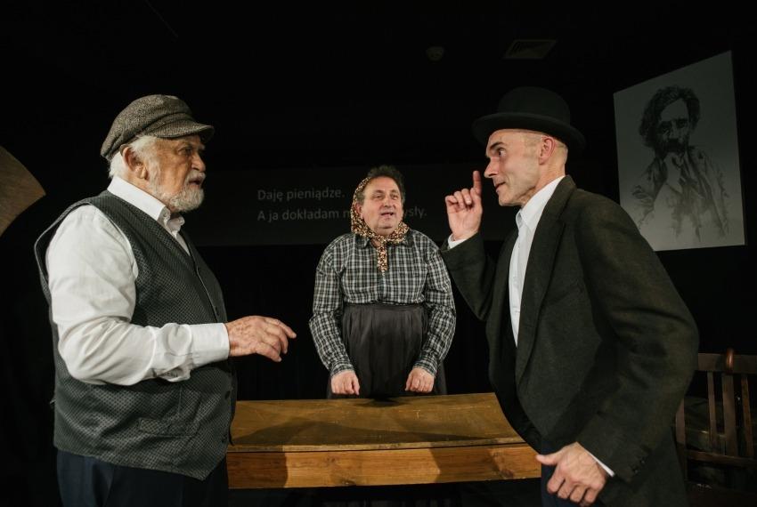 Miasteczko Kasrylewka / reż. Shmuel Atzmon-Wircer / na zdjęciu Shmuel Atzmon-Wircer, Henryk Rajfer i Jerzy Walczak